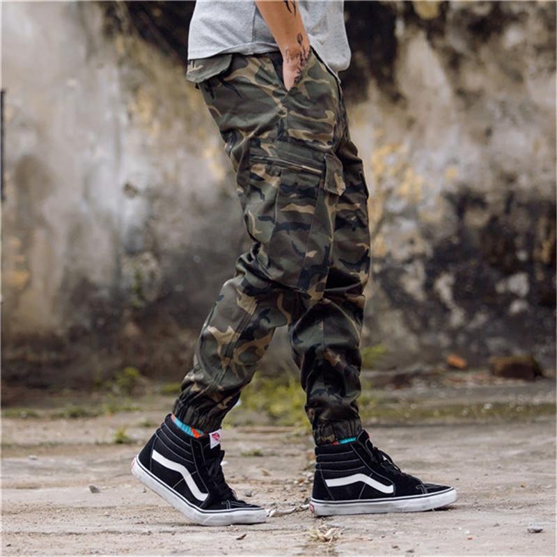 Hip Streetwear Men's Camouflage Joggers Pants  Men Women Cotton Cargo Pant Trousers Elastic Waist Harem Pant Men