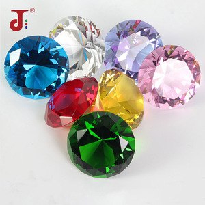 Colors Big Glass Diamond Party Decoration Crystal Large Diamond Romantic Proposal Home Decoration Ornaments Party Chrismas Gifts(China)