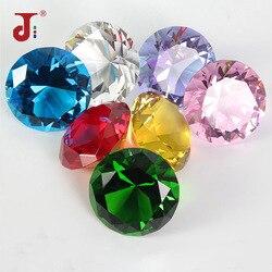 Kolory duże szkło diamentowe dekoracje świąteczne kryształ duży diament romantyczna propozycja ozdoby do dekoracji domu Party Chrismas prezenty w Figurki i miniatury od Dom i ogród na