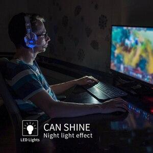 Image 5 - Profesyonel Led ışık bas oyun için mikrofon ile kablolu kulaklık anahtarı PS4 bilgisayar üzerinde oyun kulaklıklar için XBox PC