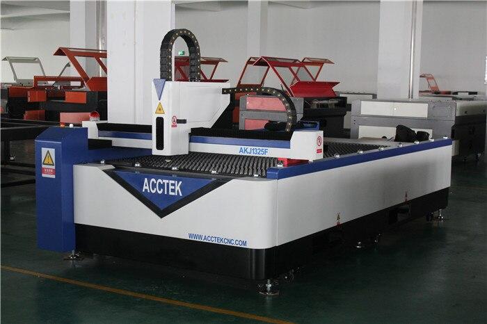 500w 1000w Cnc Fiber Laser Cutting Machine AKJ1325F 4*8ft For Metal Steel
