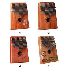 Little Thumb Piano Acoustic Guitar Rust Proof Guitarra Kalimba 17 Key Bass Wood African Tunes Accessories