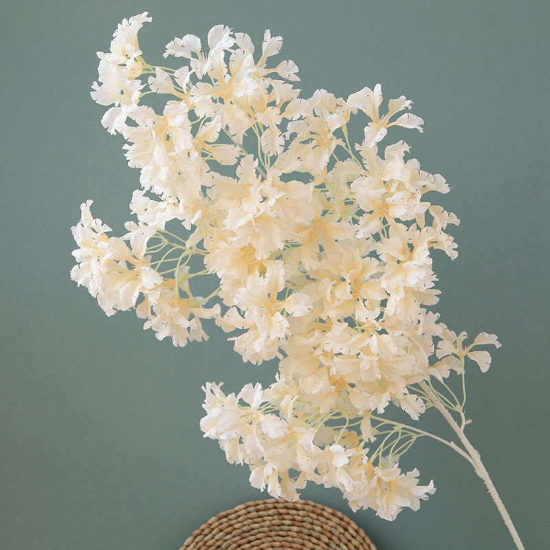 5шт/много искусственные цветы завод бонсай Свадебный декор вишни в цвету цветы домашний декор ветка длинный стебель поддельные цветы