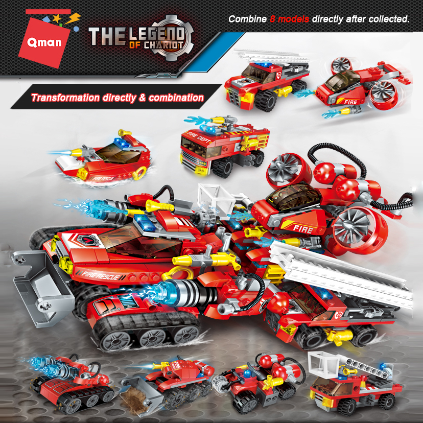 8 in 1 Qman 1410 Educational Armed The Rengo Battle Building Blocks Construction Mini Bricks Technic Figures Kids Toys for Child