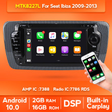 In lager 2 Din Auto DVD Radio Für Seat Ibiza 6j 2009 2010-2013 Autoradio Multimedia-player Audio GPS navigation WIFI BT Carplay