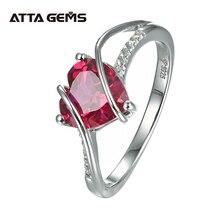 לב צורת רובי 925 סטרלינג כסף טבעת 2.5 קראט נשים אהבת טבעת עבור מסיבת חתונה ואירוסין רומנטי מתנה