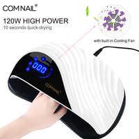 Secador de uñas LED de uso profesional para salón de belleza para secado rápido 3 en 1 secador de Gel con Sensor UV no dañino incorporado en la lámpara de uñas del ventilador