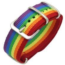 Pulseira de arco-íris de nylon, bracelete feminino lgbt com orgulho
