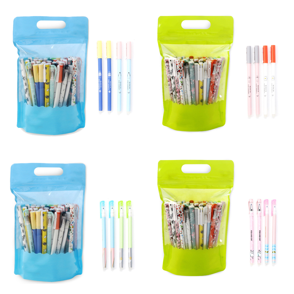 20Pcs/lot 0.35mm Cute Animal Black Blue Ink Erasable Gel Pen School Office Supply Gift Stationery Papelaria Escolar