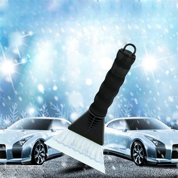 1 Pc przenośny do samochodu skrobaczka szczotka do śniegu urządzenia do oczyszczania łopata do lodu pojazdu przednia szyba samochodu skrobak do śniegu okno skrobak łopata do śniegu tanie i dobre opinie wupp CN (pochodzenie) 26cm 13cm windshield slide car ice scraper windshield for snow car winter snow shovel car cleaning tools
