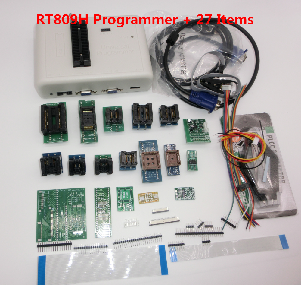 39-Items Programmer RT809H Edid-Cable Original WITH CABELS EMMC-N Flash-Extremely Universal