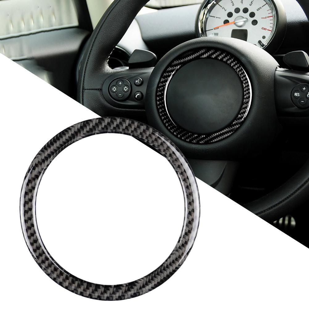 Carbon Fiber Steering Wheel Sticker Decal anti-scratch Car Interior decoration Accessories for Mini Cooper JCW R55 R56 R60 R61
