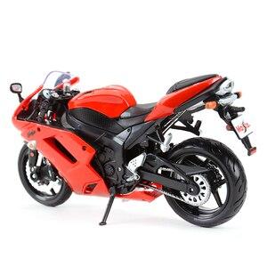 Image 4 - Maisto 1:12 Kawasaki Ninja ZX 6R Blauw Gegoten Voertuigen Collectible Hobby Motorfiets Model Speelgoed