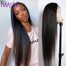 360 hd peruca frontal do laço transparente para as mulheres malaio 13 × 6/4 perucas retas do cabelo humano da parte dianteira do laço 28 Polegada preplucked remy cabelo