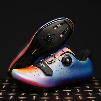 Obuwie rowerowe rowerowe obuwie rowerowe antypoślizgowe oddychające męskie wyścigi drogowe sportowe buty rowerowe samoblokujące buty obuwie rowerowe tanie i dobre opinie FAD SPEED CN (pochodzenie) latex Skórzane Dla dorosłych Oświetlony Wodoodporna Cotton Fabric Średnie (b m) NYLON Hook loop