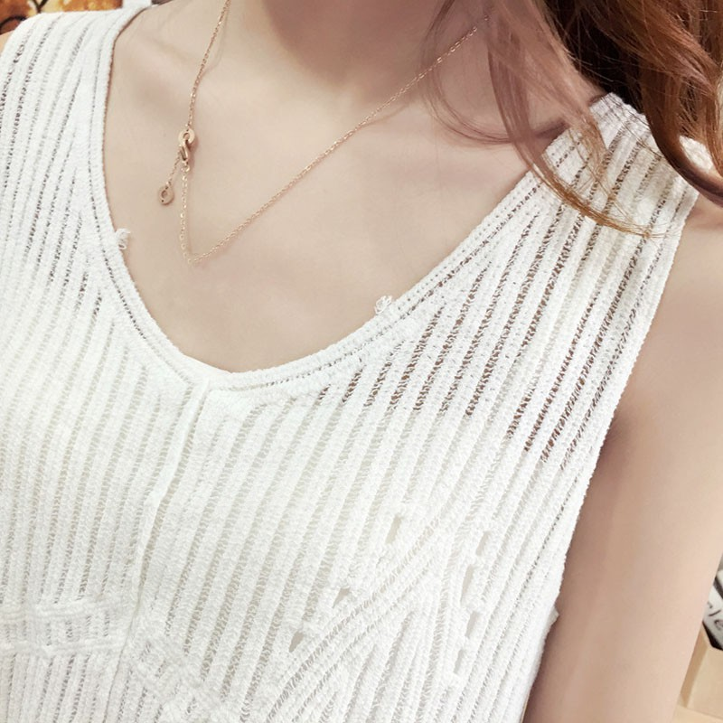 Summer Sleeveless Top Female V-Neck White Blouse Shirt Ladies Loose solid Chic Casual Blouses 2020