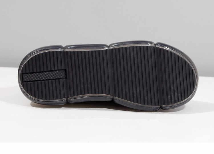 Baskets à plate-forme femmes baskets grosses chaussures décontractées femmes talons transparents Buty Damskie cuir dames chaussures Zapatos De Mujer