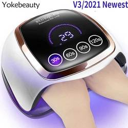 Nails Dryer UV LED Lamp For Manicure With 4 Time Setting Motion sensing LCD Display Fast Curing Nail Light Drying Gel Polish