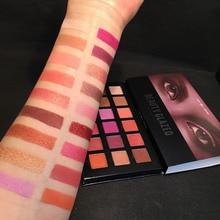 BEAUTY GALZED 18 Colors Matte Shimmer Eyeshadow Palette 3D Nude Eyes Makeup Glitter Pigments Shining Eye Shadow Powder Cosmstics