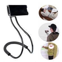 Flexível preguiçoso pendurado pescoço telefone suportes colar suporte de celular para samsung universal titular para iphone