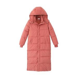 Image 5 - Kobiet dół bawełny kurtka zimowa płaszcz Super długie parki z kapturem studenci luźne kobiet kurtka ciepłe kurtki zimowe płaszcze C5872