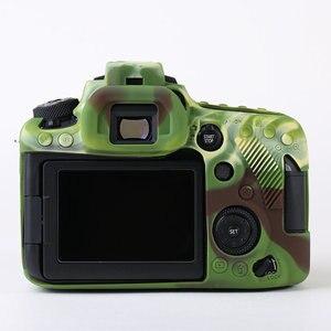 Image 3 - סיליקון שריון עור מקרה גוף כיסוי מגן עבור Canon EOS 90D DSLR מצלמה