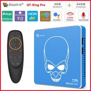 Beelink-smart top box gt-king PRO, Android 9,0, Quad-core, decodificador de señal con 4 GB, 64 GB de ROM, wi-fi 2,4 GHz/5,8 GHz, USB 3,0, Bluetooth 4,1, HDMI, reproductor de tv