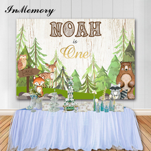 InMemory Jungle Safari Photo Backdrops Baby Birthday Party Vinyl Photography Background For Photo Studio Baby Shower Banners