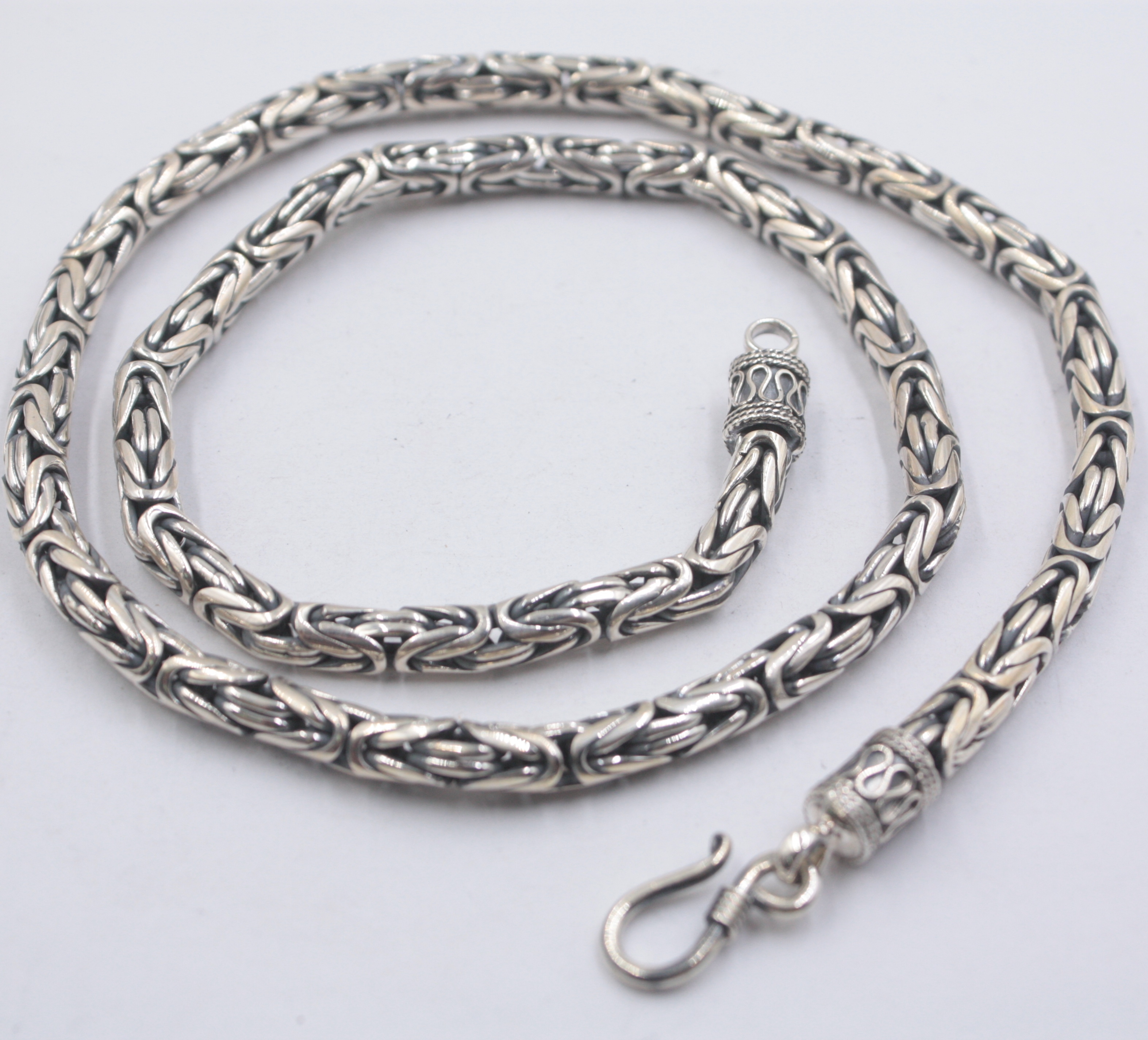 Details about  /Vintage Real S925 Sterling Silver Chain Women Men Cable Link Necklace 4mm