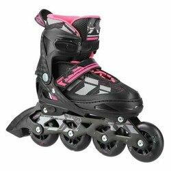 Nuevos patines de moda Casual Skateboard zapatos para niños negro + morado S (31-34)