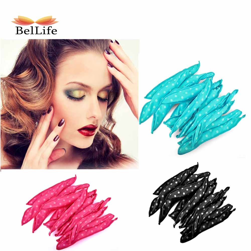 10 Pcs/Lot Magic Hair Curlers Flexible Foam Sponge Curling Rods No Hot Rollers Hair Styling Tool Easy Usage