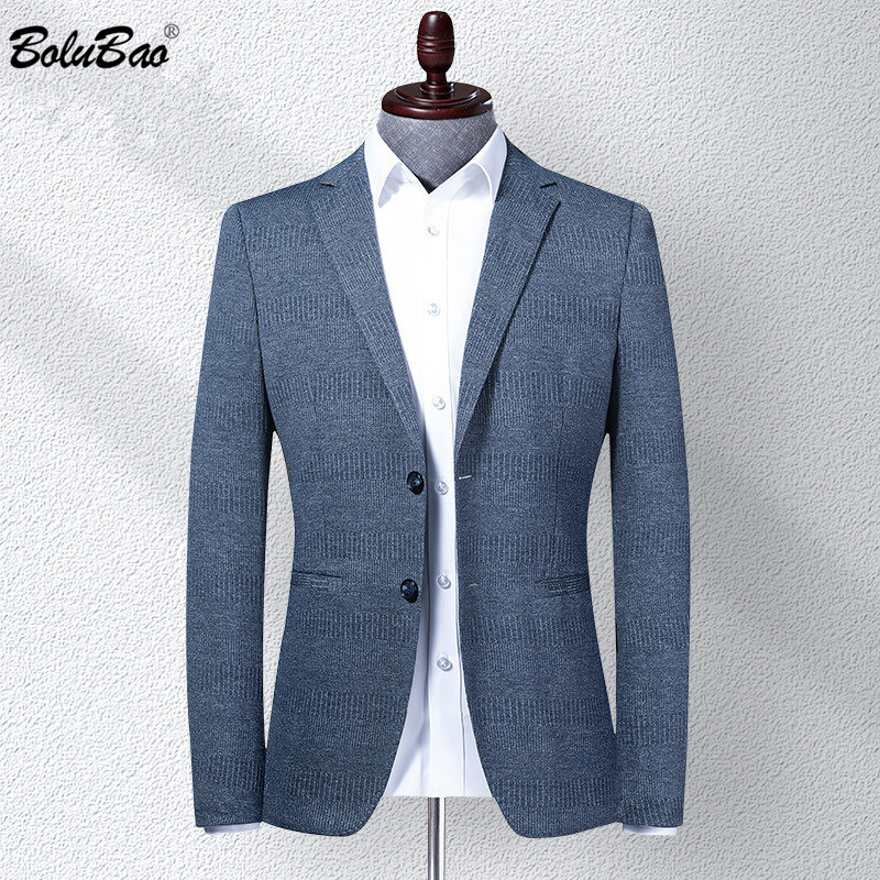 BOLUBAO Brand Men Blazer Coats Classic Retro Men's V-Neck Suit Fashion High Quality Casual Thin Korean Blazers Coat Male