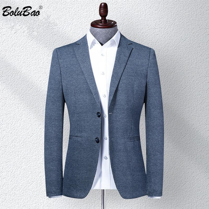 BOLUBAO Brand Men Blazer Coats Classic Retro Men's V-Neck Suit Fashion High Quality Casual Thin Korean Blazers Coat Male
