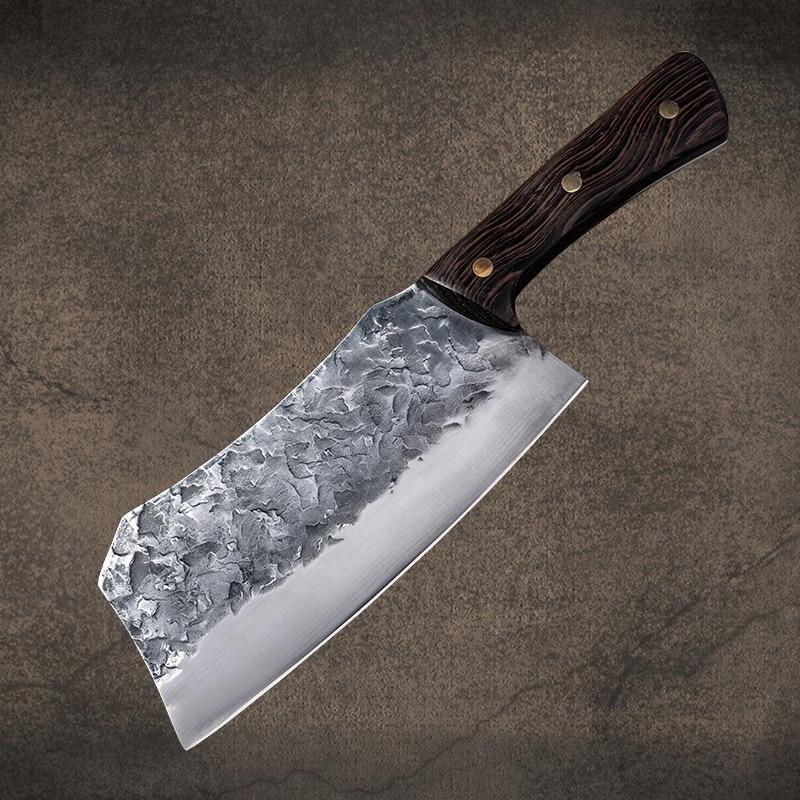 Ручной Кованый кухонный нож, кованая сталь, китайский нож, нож для резки мяса, нож для резки овощей, кухонный инструмент|Кухонные ножи|   | АлиЭкспресс
