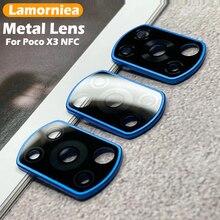 카메라 렌즈 수호자 샤오미 Poco X3 NFC Pro 금속 반지 유리 샤오미 Poco X3Pro 후면 렌즈 보호 케이스
