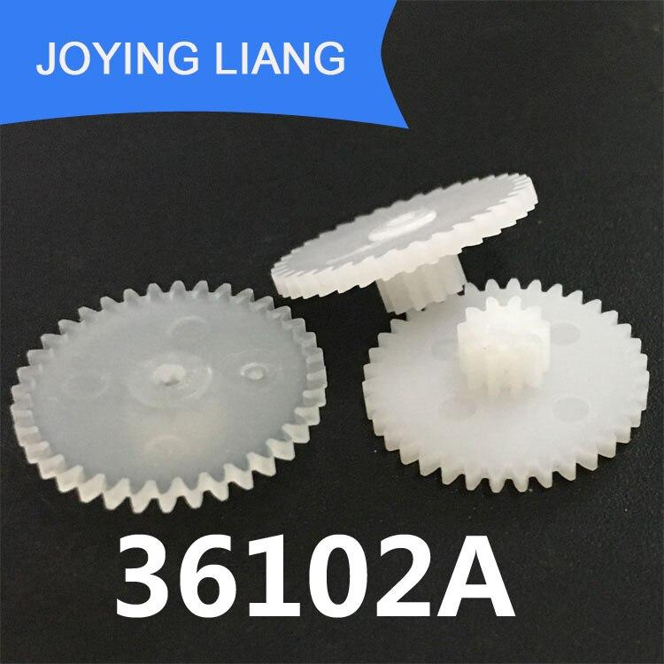 36102A 36102B 36102.5A 36102.5B M = 0,5 двухслойные шестерни OD 19 мм 36 зубьев/10 зубьев 2 мм 2,5 мм Отверстие Пластиковые шестеренки POM 10 шт./лот