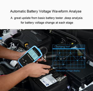 Image 4 - TOPDON AB101 Tester batteria per auto 12V voltaggio Test batteria analizzatore caricabatterie automobilistico 2000CCA Tester di ricarica per auto a gomito