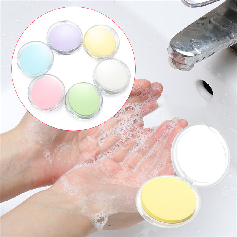 50Pcs Disposable Boxed Soap Paper Travel Portable Hand Washing Box Scented Slice Sheets Mini Soap Paper Outdoors Clean Tools