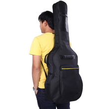 цена на 40/41 Inch Guitar Bag Guitar Carry Case Backpack Double Straps Padded Guitar Soft Case Gig Bag 600D Oxford Waterproof  Backpack