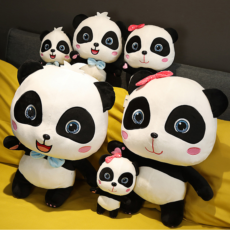 BabyBus New 22~55cm Lovely Panda Plush Toys Hobbies Cartoon Animal Stuffed Toy Dolls For Girl Boys Baby Birthday Christmas Gift