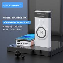 Wireless Power Bank 20000 mAh Wireless Charger Powerbank Quick 3.0 Portable Charging Slim Power bank For iPhone12 Laptop