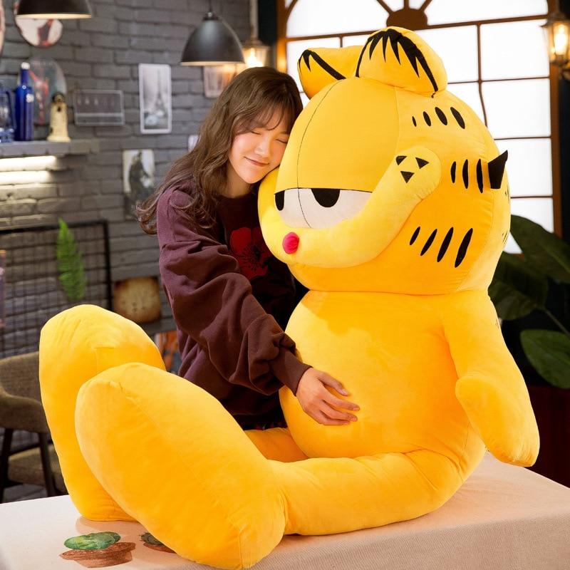 20cm 80cm Cartoon Garfield Plush Toy Garfield Cat Plush Stuffed Doll Moive Anime Toys Soft Figure Doll Gifts For Kids Children
