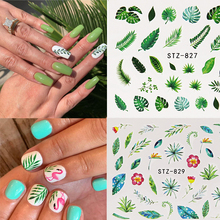 Get more info on the New 1pcs Water Nail Decal and Sticker Flower Leaf Tree Green Simple Summer Slider for Manicure Nail Art Watermark Tips Manicure