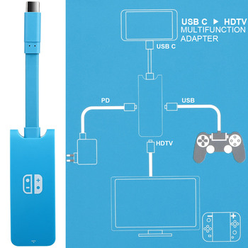 1080p hdmi type c adapter dock for nintend switch tv hdmi converter adaptor console accessories low price limit buy HMDI USB C Hub Adapter for N-intendo Switch,1080P Type C to HDMI HDTV PD Charger Converter Dock Cable for Nintendo Switch