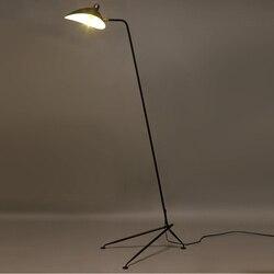 DaWn Spider Serge Mouille lampa led podłogowa Design Black Iron Manti Arm lampa stojąca oświetlenie przemysłowe sypialnia drewniana lampa podłogowa
