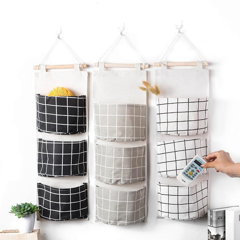 1Pc Nordic Wall Hanging Storage Bag Bedroom Door Closet Cosmetics Toys Sundries Organizer