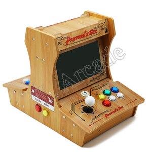 Image 2 - باندورا بوكس 6 البلاستيك بارتوب 2 اللاعبين ماكينة صالة الألعاب الصغيرة 10 بوصة شاشة مزدوجة مزدوجة القتال لعبة وحدة التحكم ممر لعبة ثلاثية الأبعاد