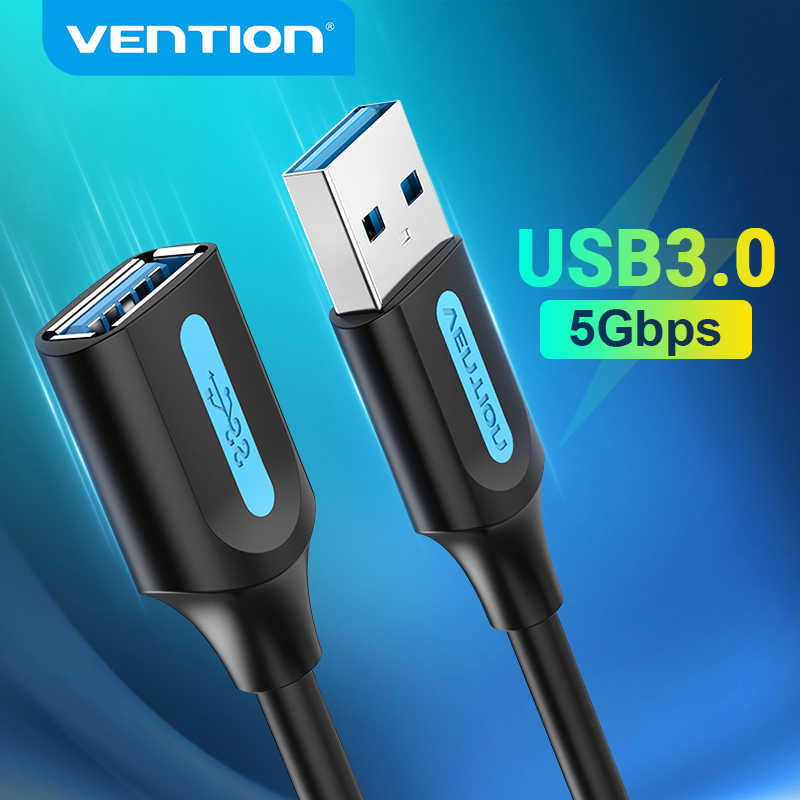 Lysee Data Cables Color: black blue, Cable Length: 2m CABLETIME USB3.0 Cable Extension Cable M//F 5Gbps for Laptop PC X Box USB Extender Data Cord USB Adapter C272