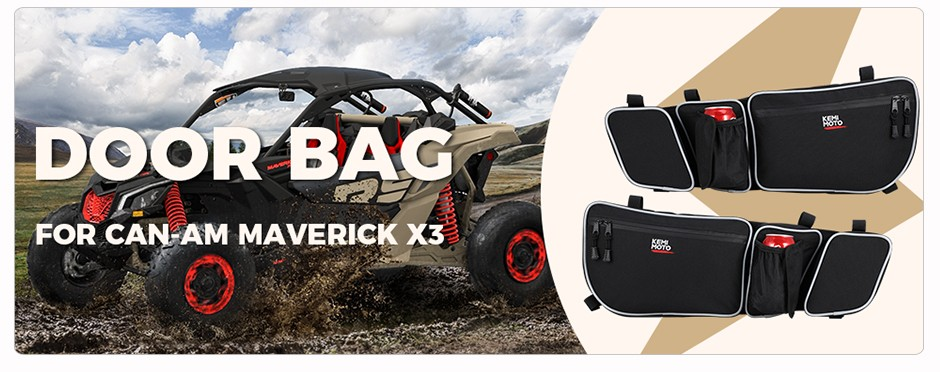 Passenger And Driver Side MFC Front Door Bags Storage Bag Gear Bag With Knee Protection Fit For UTV Can Am Maverick X3 XRS XDS Turbo R 2017-2020