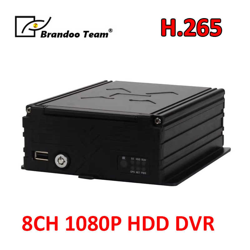 Goedkoop 8 Kanaals Bus Dvr, Ondersteuning 2Tb Hdd, 128Gb Sd, Real Time Opname, 1080P Resolutie En H.265 Compressie